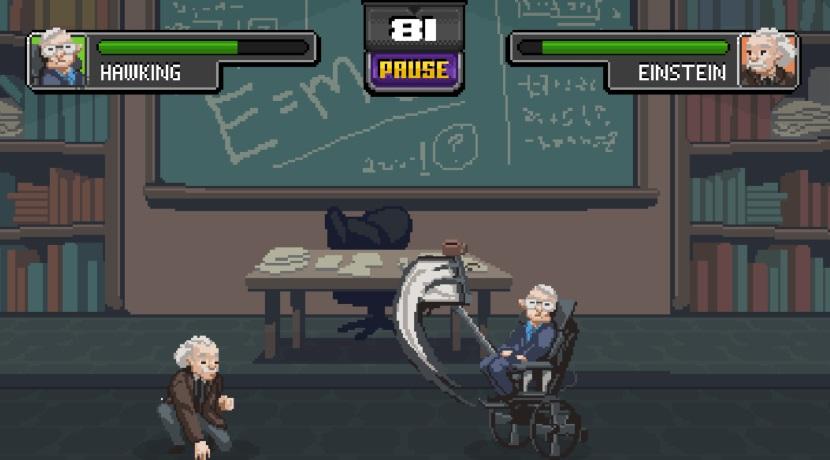Wer war der wichtigste Wissenschaftler? Das Browsergame Science Kombat beantwortet die Frage endgültig in einem Faustkampf Mann gegen Mann.