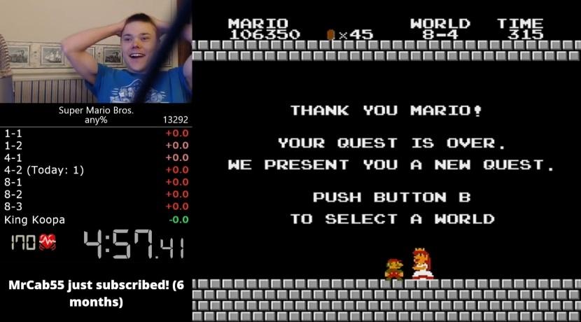 Super Mario Bros. Weltrekord Perfekter Speedrun