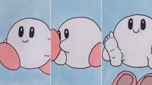 Kirby mit echten, menschlichen Füßen ist der Stoff, aus dem Albträume sind