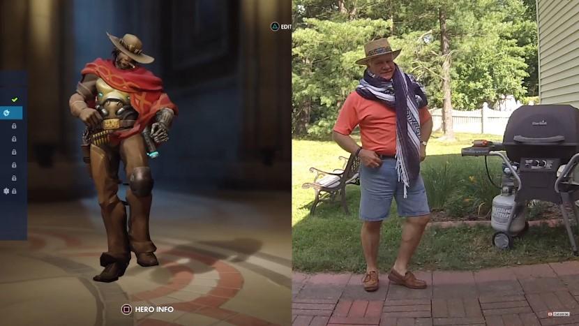 Overwatch Dad tanzt Dance Emotes